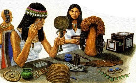 Уход за лицом, Косметика в Древнем Египте.